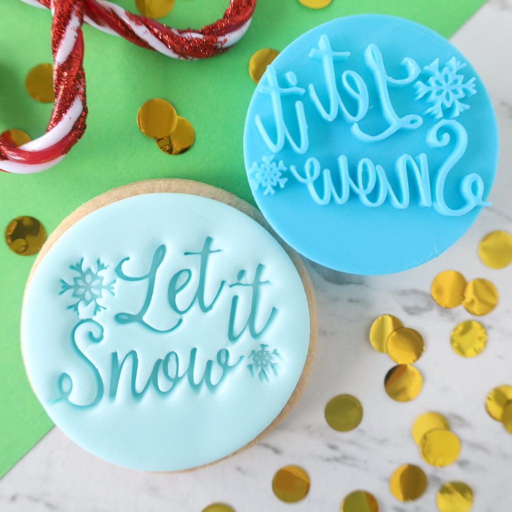 Let it snow - Cookie/Cupcake Embosser EMB423