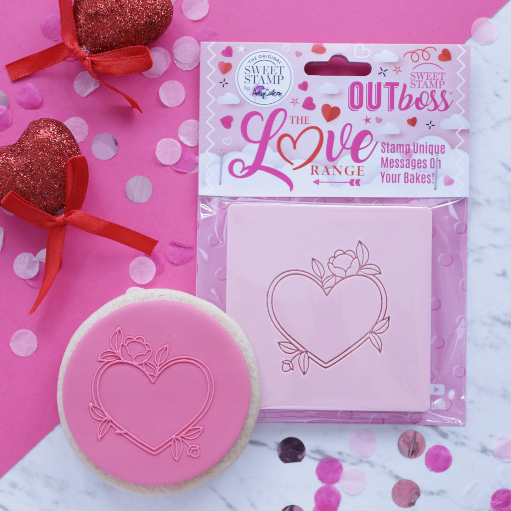 OUTboss Love - Heart Floral Frame