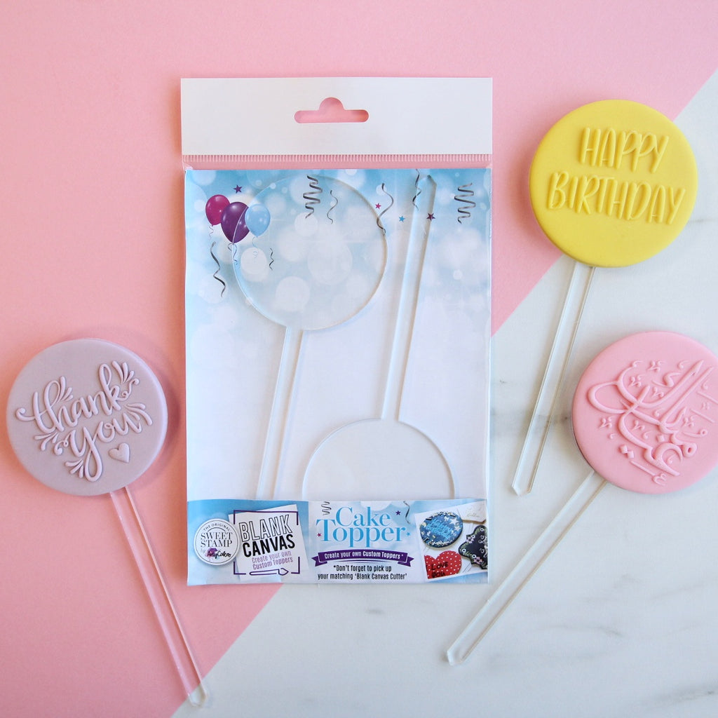 Blank Canvas by SweetStamp - MINI CIRCLE Blank TOPPER