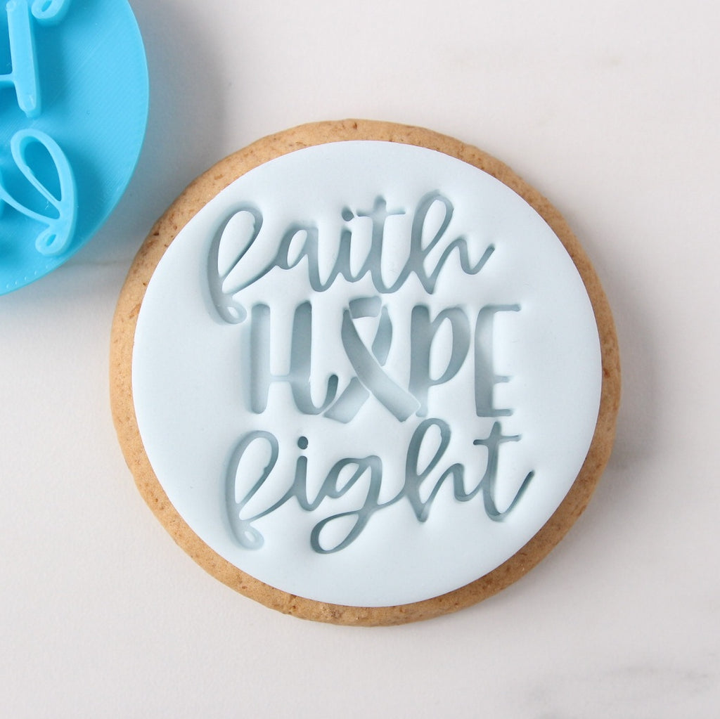 Faith Hope Fight - Cookie/Cupcake Embosser