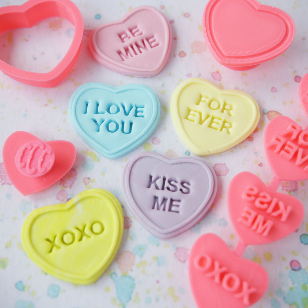 Love Hearts 3D Embosser & Cutter Set 7pcs