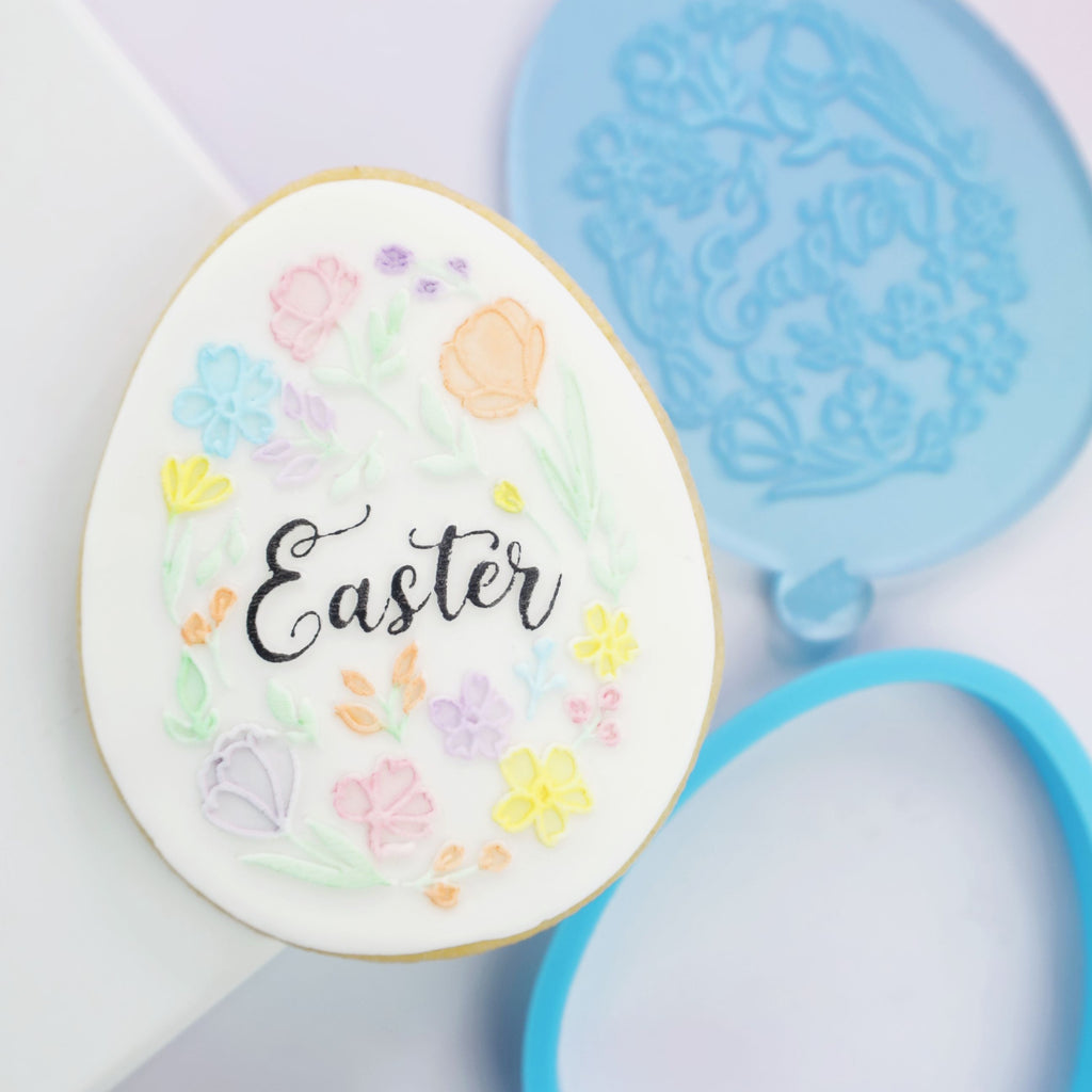 OUTboss STAMP N CUT - Floral Easter Egg