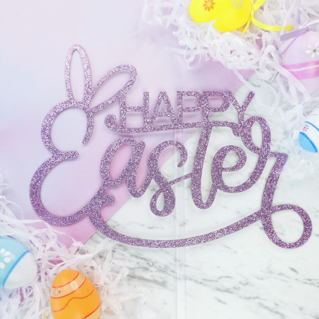 Happy Easter Card Topper - Pink