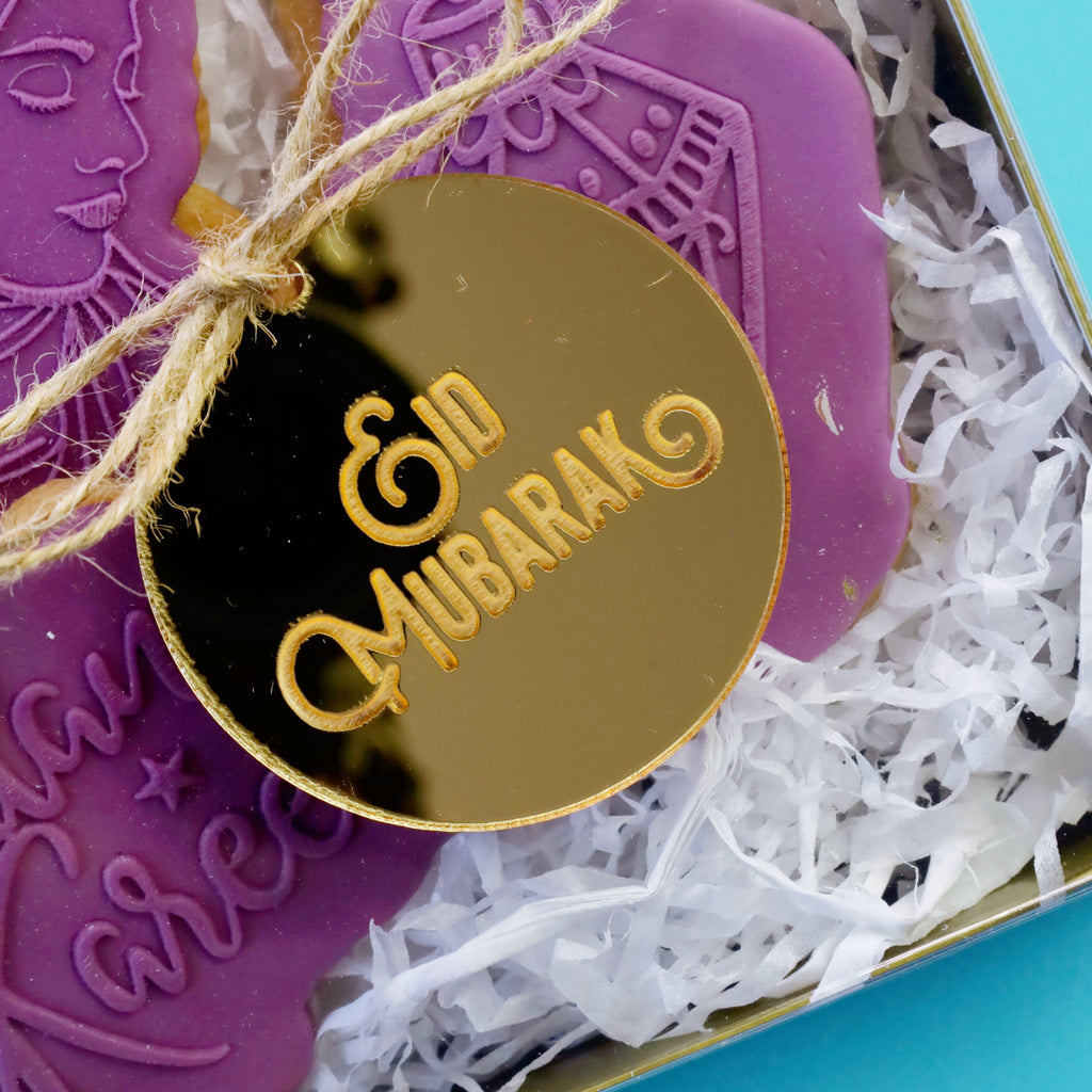 SweetStamp - Cake box Tags Eid Mubarak 6pk
