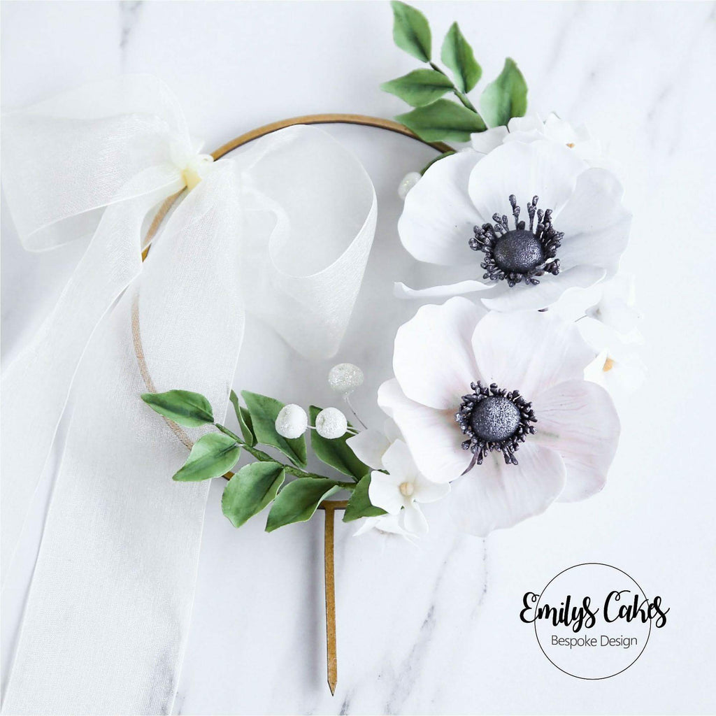 Wood Garland Floral Frame Ring Loop