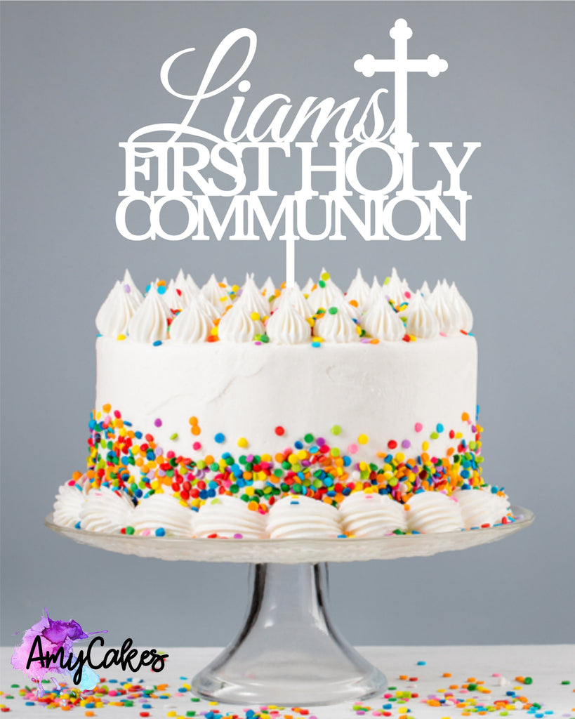 Timeless Communion Custom Cake Topper