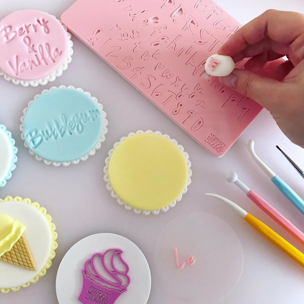 Sweet Stamp - VANILLA Set - Uppercase, Lowercase, numbers & Symbols