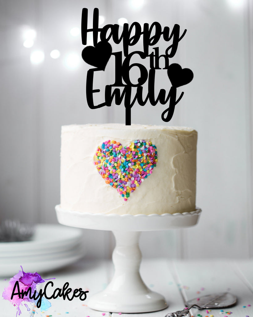 Cute Birthday Custom Topper
