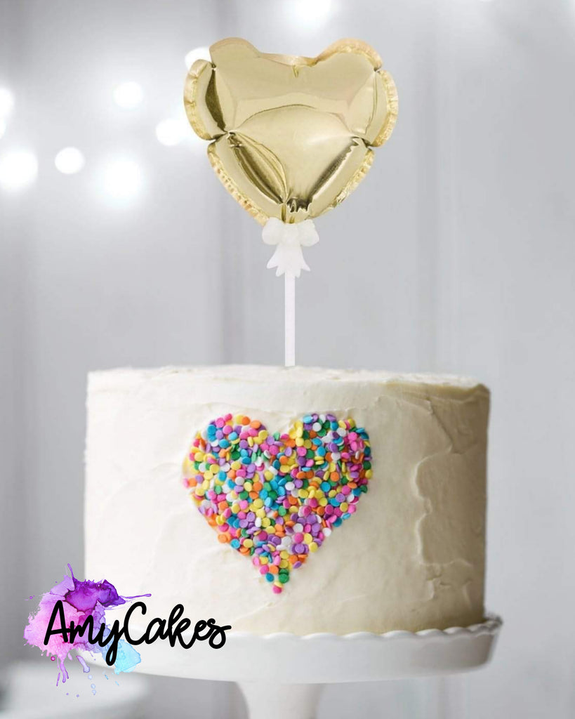 Foil Balloon - Gold - Heart