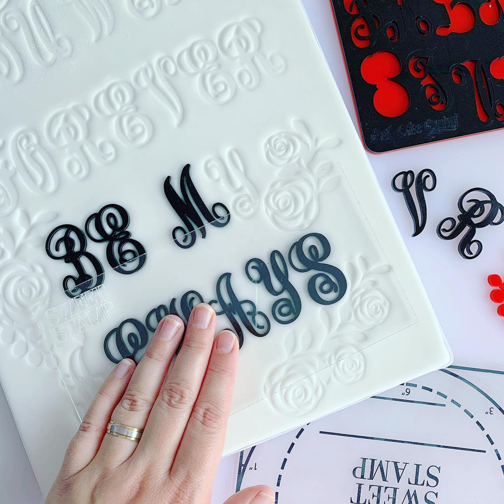 *NEW* Sweet Stamp - MONOGRAMS by Evil Cake Genius - Uppercase