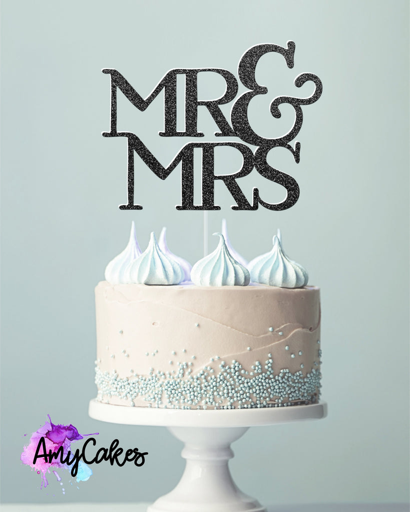 Mr & Mrs Card Topper - Black