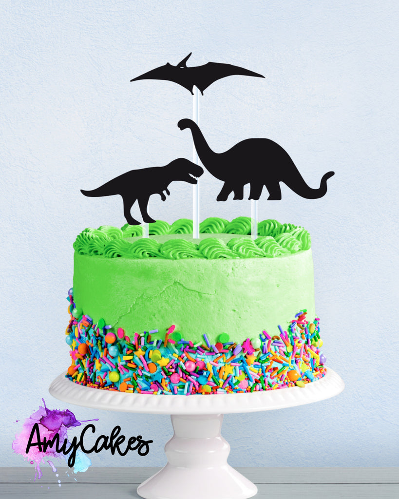 Dinosaurs Card Topper - Black