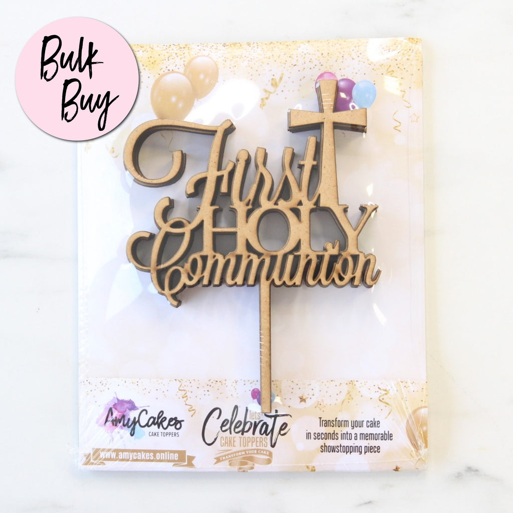 Medium Communion Topper Bulk Buy - 5 Pk - Wood