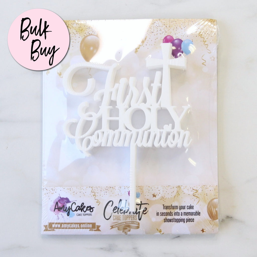 Medium Communion Topper Bulk Buy - 5 Pk - White