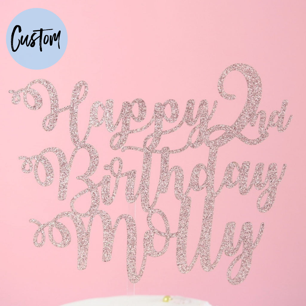 Curly - Custom Card Topper