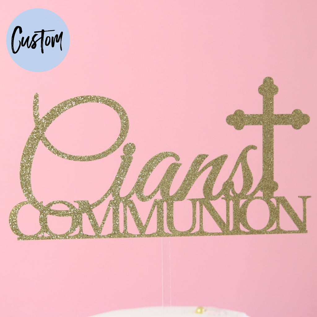 Communion / Confirmation - Custom Card Topper