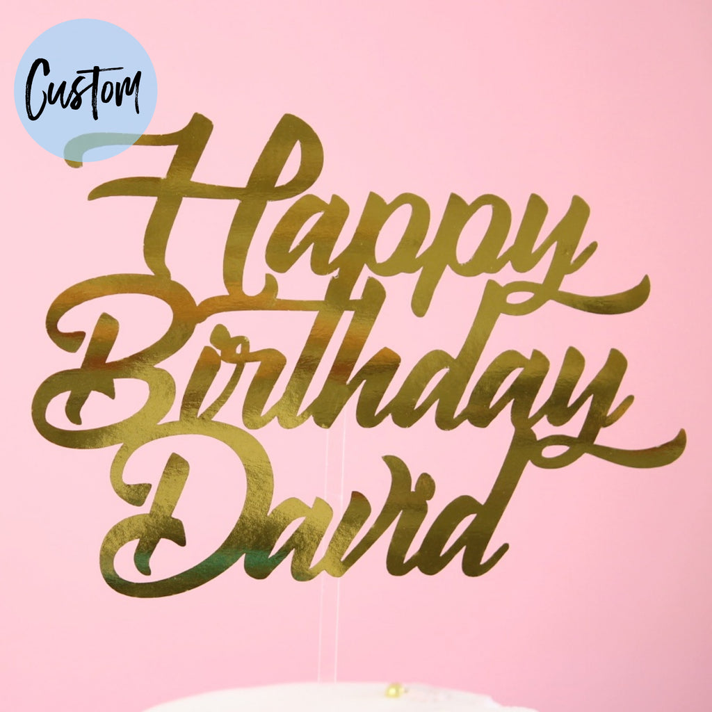 Classy Birthday - Custom Card Topper