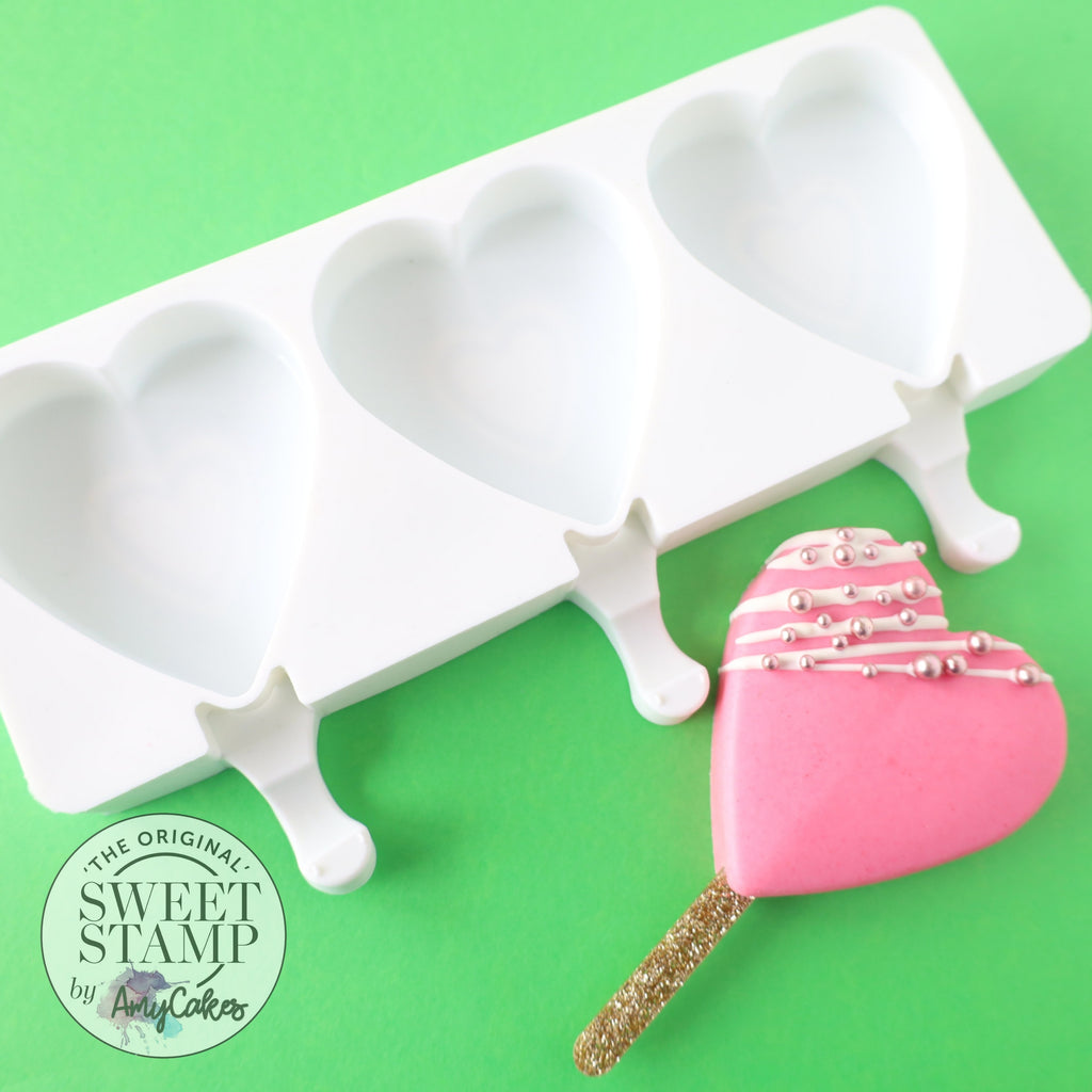 Sweet Stamp Cake Popsicle Mould - Heart