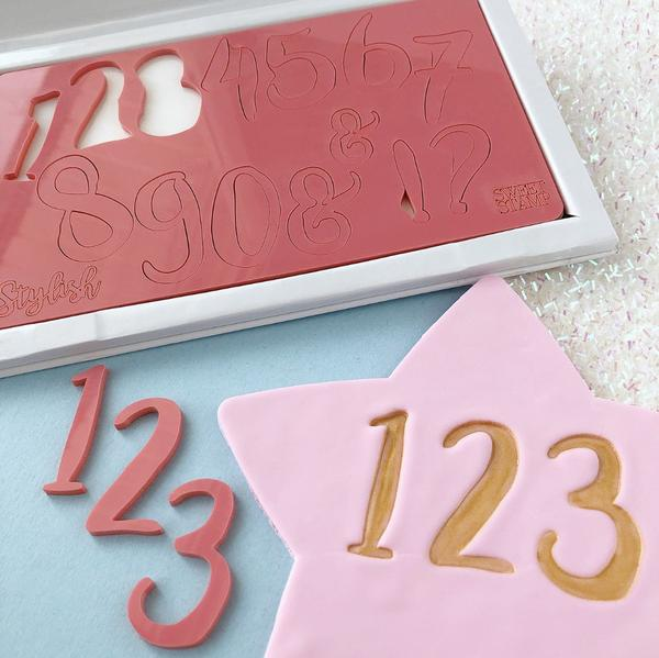 Sweet stamp - STYLISH NUMBERS