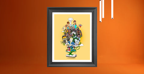 The Big Bang - Original Oscar Llorens Print.