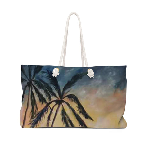 Palm Tree Weekender Bag - D-Lete Apparel