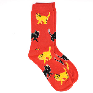 Ladies Bamboo Socks. Cat Socks - MRS 109
