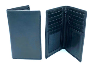 RFID Blocking Tall Leather Wallet - MRL 7 - Black