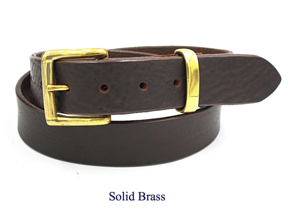 35mm Dark Brown leather belt. Handmade in England. - Mark Russell Leather