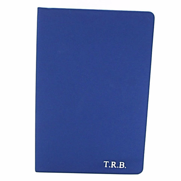 Personalised A5 Notebook - Blue - Mark Russell Leather