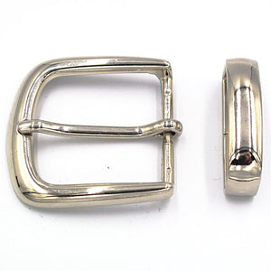 35mm Chrome Curve Buckle - Mark Russell Leather