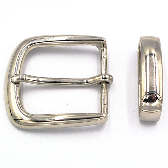 35mm Chrome Curve Buckle