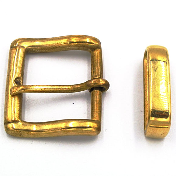 35mm Solid Brass Buckle - Mark Russell Leather