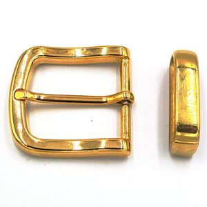 35mm Brass Curve Buckle