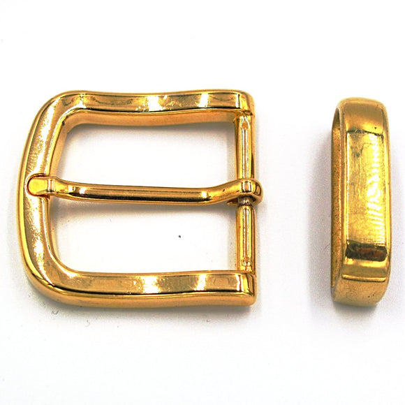 35mm Brass Curve Buckle - Mark Russell Leather
