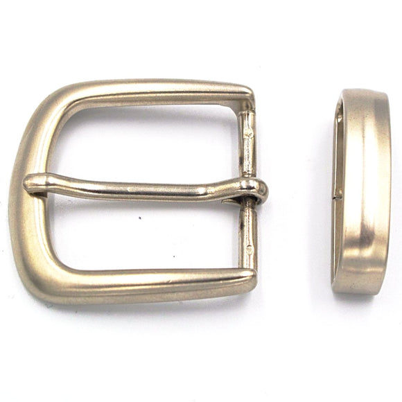 35mm Brushed Nickel Curve Buckle - Mark Russell Leather