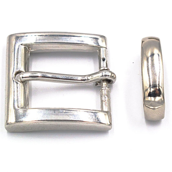 25mm Chrome Square Buckle - Mark Russell Leather