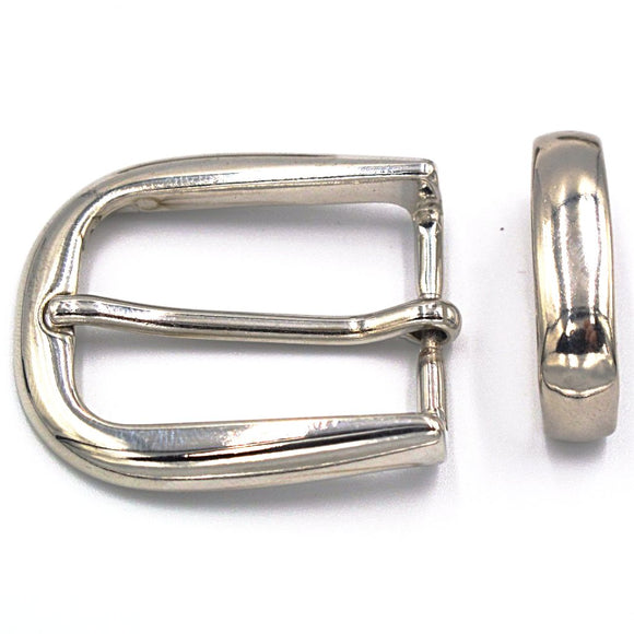 25mm Chrome Curve Buckle - Mark Russell Leather