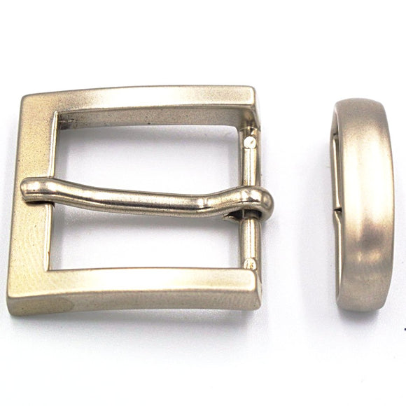 25mm Brushed Nickel Square Buckle - Mark Russell Leather