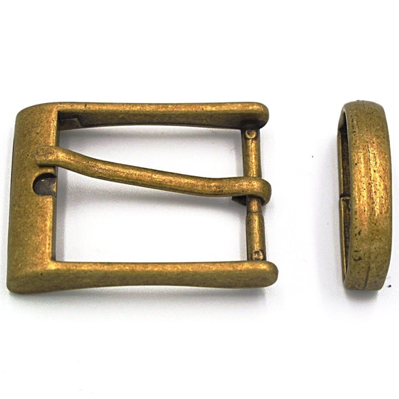 30mm Antique Brass Square Buckle - Mark Russell Leather
