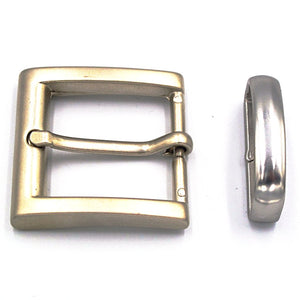 30mm Brushed Nickel Square Buckle - Mark Russell Leather