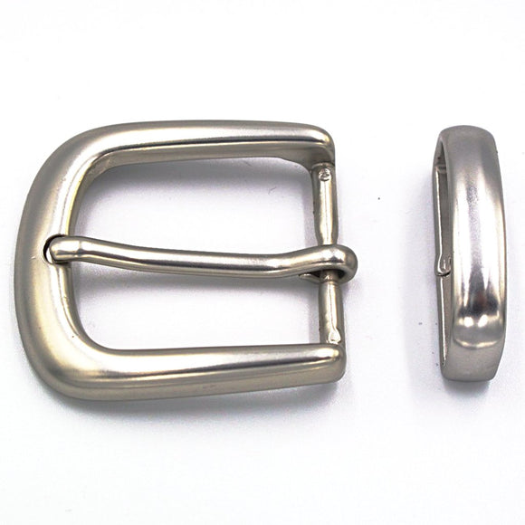 30mm Brushed Nickel Curve Buckle - Mark Russell Leather