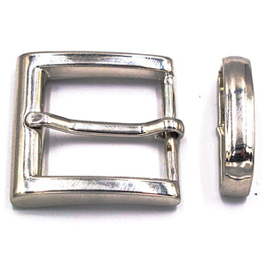 30mm Chrome Square Buckle - Mark Russell Leather