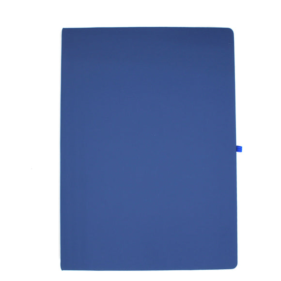 Personalised A4 Leather Notebook - Navy Blue