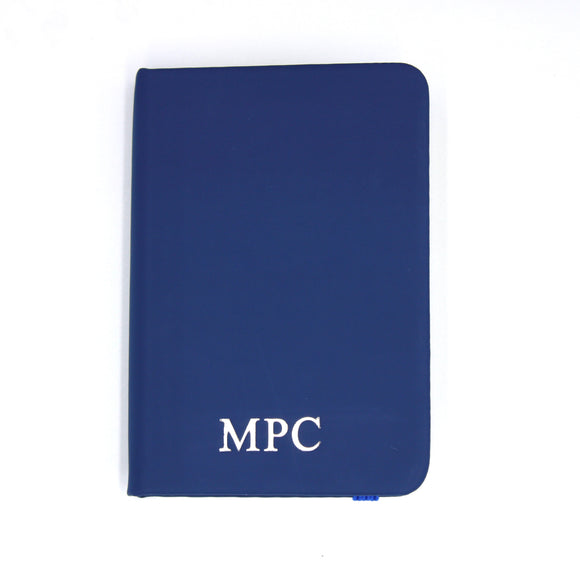 Personalised A7 Leather Notebook - Blue