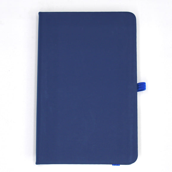Personalised A6 Leather Notebook - Navy Blue