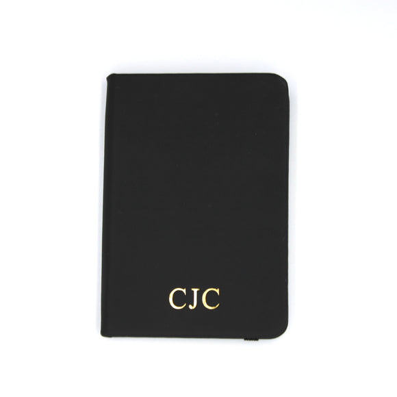 Personalised A7 Leather Notebook - Black