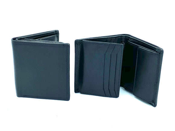 RFID Blocking Coin Wallet - MRL 5 - Black - Mark Russell Leather