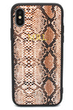 Personalised Tan Snakeskin Leather iPhone Case