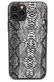 Personalised Black Snakeskin Leather iPhone Case