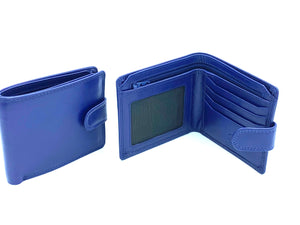 RFID Blocking Wallet - MRL 4 - Navy - Mark Russell Leather